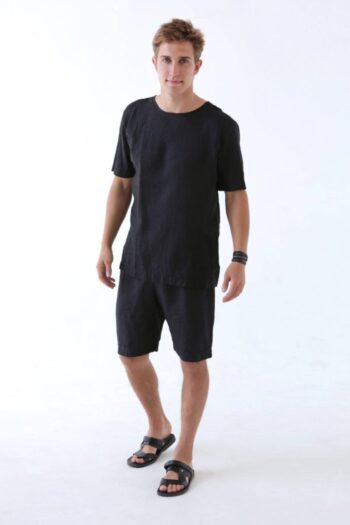 men's linen t-shirt