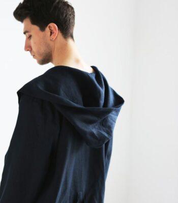 men's linen bathrobe, sustainable fashion, men's homewear