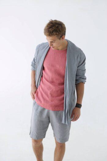 linen cardigan , men's cardigan, men's fashion, sustainable fashion