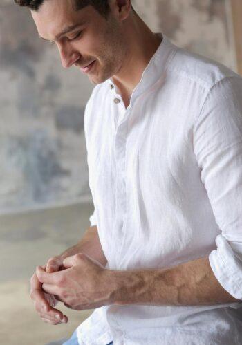linen shirt, men's shirt, sustainable fashion