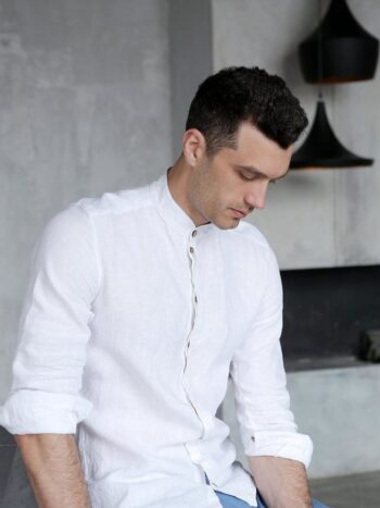 linen shirt, men's shirt, sustainable fashion
