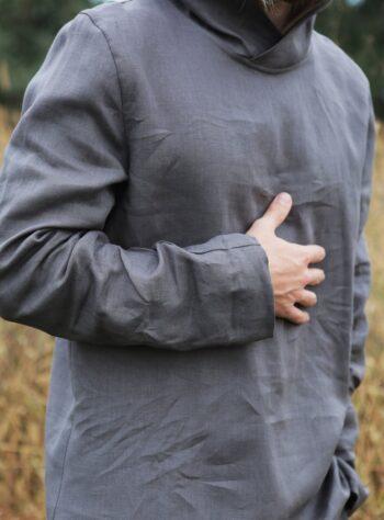 linen hoodie, men's hoodie