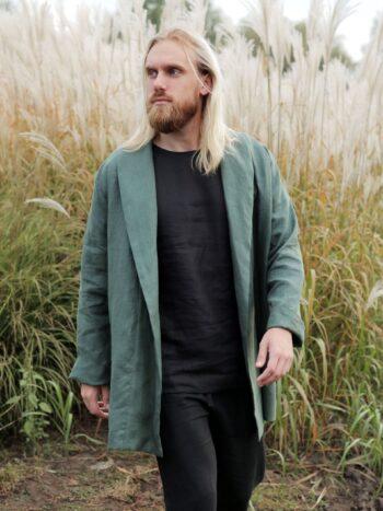 linen cardigan, men's cardigan, men's fashion, sustainable fashion