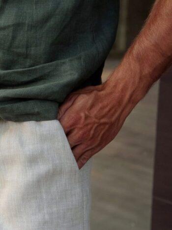 men's linen shorts