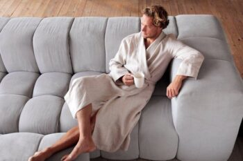linen bathrobe, men's linen robe. men's fashion