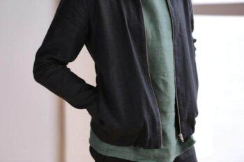 men's bomber, linen jacket