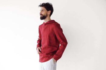 red hoodie
