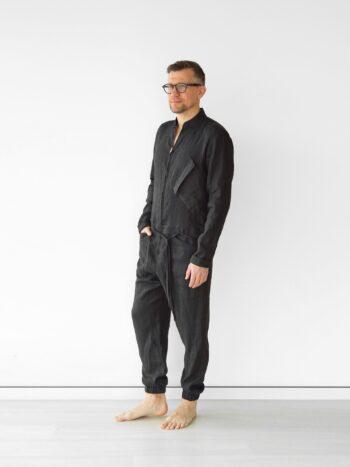 men's linen jumpsuit