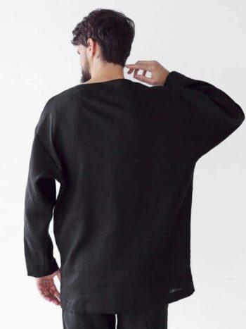 Mens linen oversize sweatshirt