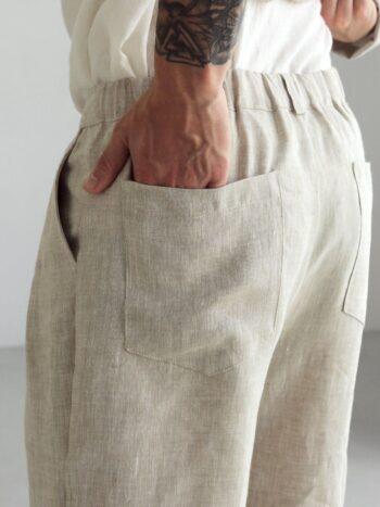 linen pants with pleats