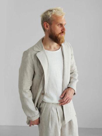 natural linen jacket