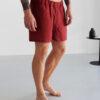 red linen underwear