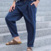 pleats linen pants