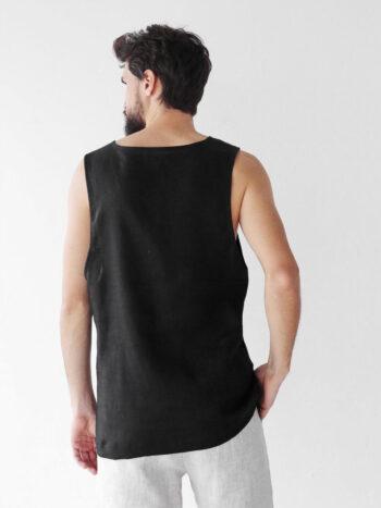 black sleeveless t-shirt